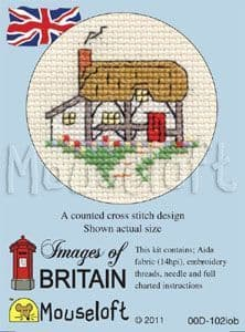 Mouseloft Cottage Images of Britain cross stitch kit